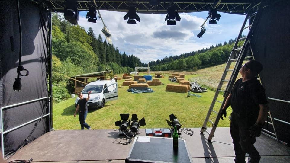 Krach am Bach 2020 Konzert - Aufbau - Aus Sicht des Drummers